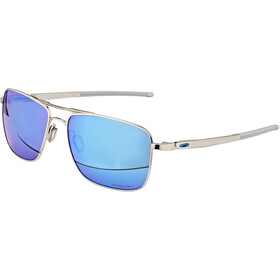Oakley Gauge 6 Brillenglas Heren, polished chrome/prizm sapphire